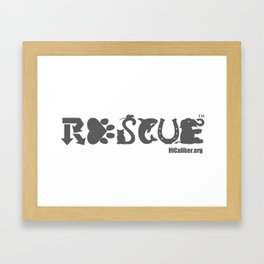 Rescue Gray Framed Art Print
