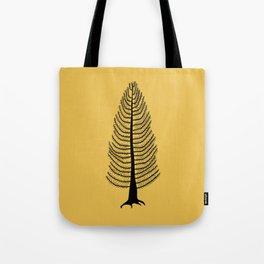 West Coast Cedar Tree Mustard Tote Bag