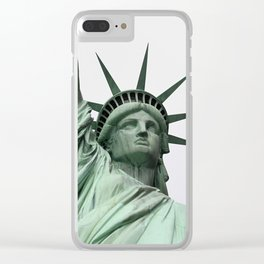 Face of Freedom Clear iPhone Case