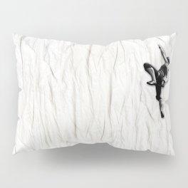 Woman Climbing a Wrinkle Pillow Sham