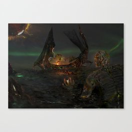 Illis and the Tarman - The Summoning Canvas Print