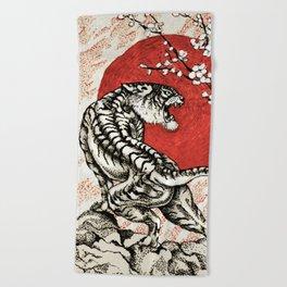 Japan Tiger Beach Towel