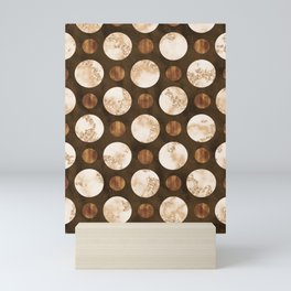 Orbiting Satellites - An Organic Marbled Pattern Mini Art Print