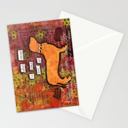 dogs never lie about love Stationery Cards