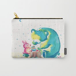 Bear with Rabbit - My Beary Berries Friend Carry-All Pouch