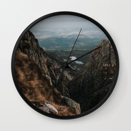Giant Mountains - Landscape and Nature Photography Wall Clock
