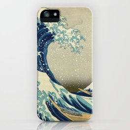 Katsushika Hokusai -The Great Wave off Kanagawa iPhone Case