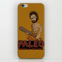 crossfit iPhone & iPod Skins featuring Paleo Before It Was Cool Crossfit Design by RonkyTonk by RonkyTonk