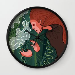 wood witch Wall Clock