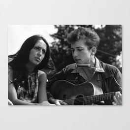 Bob Dylan and Joan Baez at the March on Washington, 1963 Canvas Print