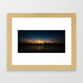 Central Park Sunset Framed Art Print