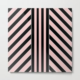 Geometric simple Metal Print
