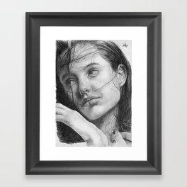 Angelina Jolie Traditional Portrait Print Framed Art Print
