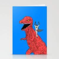 dinosaur Stationery Cards featuring Dinosaur B Forever by Isaboa
