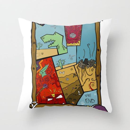 Dino Time  Throw Pillow