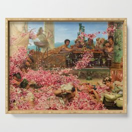 1888 Classical Masterpiece 'The Roses of Heliogabalus' by Sir Lawrence Alma-Tadema Serving Tray