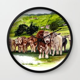 Herd It Throught the Grapevine Wall Clock
