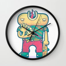 brain free Wall Clock