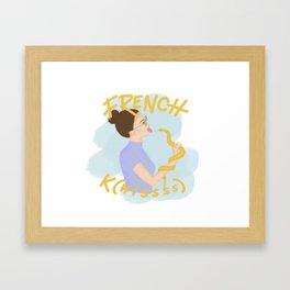 French K(hissss) Framed Art Print