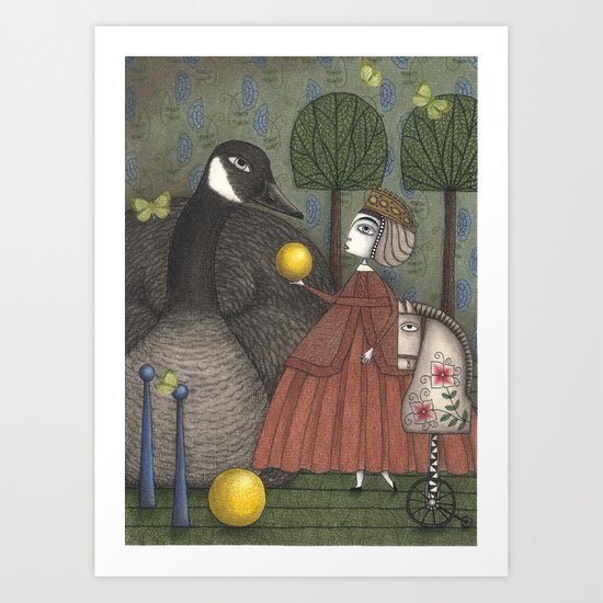 There Once was a Goose Art Print