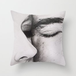 Couples Eyes Drawing Throw Pillow