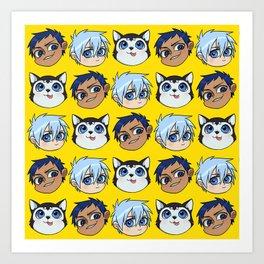 AoKuro family Art Print