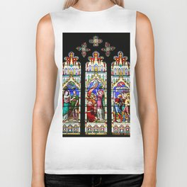 Cathedral Stained Glass 3 Biker Tank