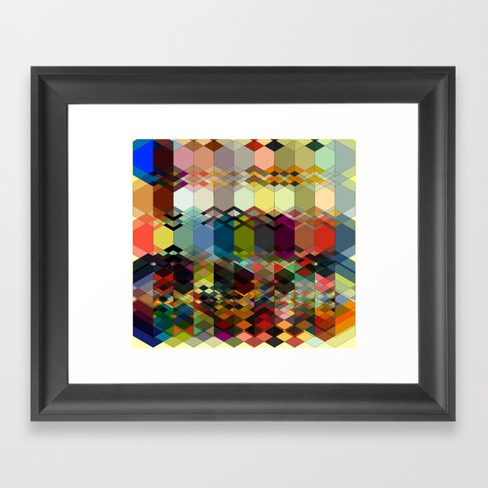 Triangle affair Framed Art Print