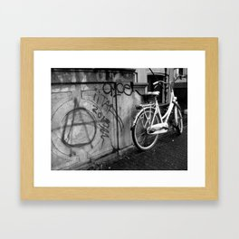 Amsterdam Anarchy Black & White Framed Art Print