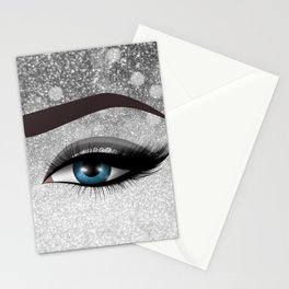 Glam diamond lashes eye #1 Stationery Cards