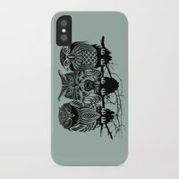 animals iPhone & iPod Cases featuring Owls of the Nile by Rachel Caldwell