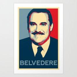 Mr.Belvedere Art Print