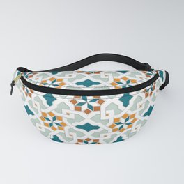 Geometric Pattern, oriental style (nature color set)  traditional morocco tile pattern Fanny Pack