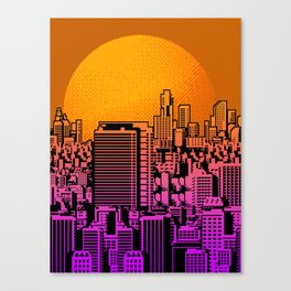 Cityscape collage 01B Canvas Print