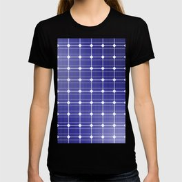 In charge / 3D render of solar panel texture T-shirt