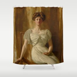 """John Collier """"Portrait of The Hon. Mrs Harold Ritchie"""" Shower Curtain"""