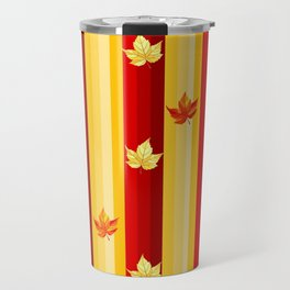 Autumn Striped Pattern Travel Mug