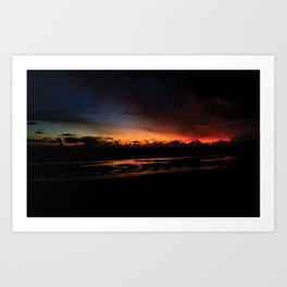 Dark Sunset Art Print