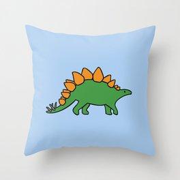Cute Stegosaurus Throw Pillow
