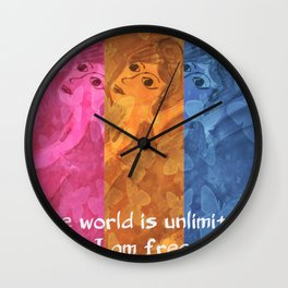 The world is umlimited. I am free... Wall Clock