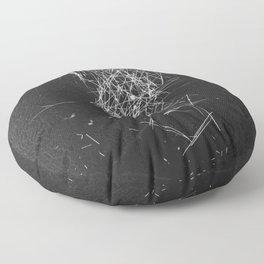 Brush Dust Heart Symbol Floor Pillow