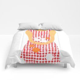 Girl with oranges Comforters