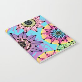 Vibrant Abstract Floral Pattern Notebook