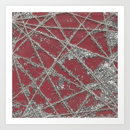 Sparkle Net Red Art Print