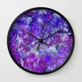 Purple Falls Wall Clock