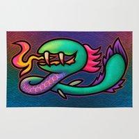 kraken Area & Throw Rugs featuring Kraken by likelikes