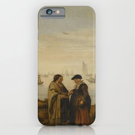 Arent Arentsz - River Landscape with Gypsies iPhone Case