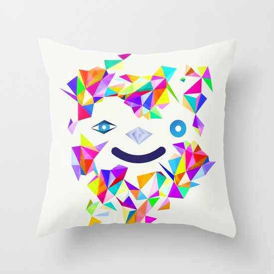 Chromatic character  Throw Pillow