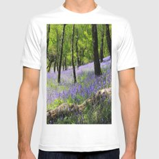 Bluebell Wood. MEDIUM White Mens Fitted Tee