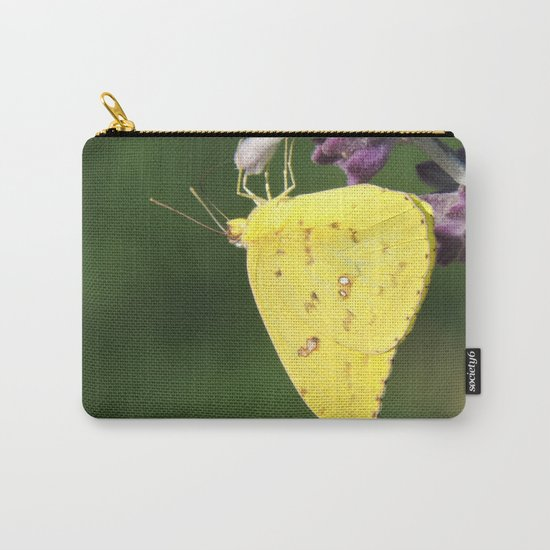Orange Sulphur Butterfly Carry-All Pouch